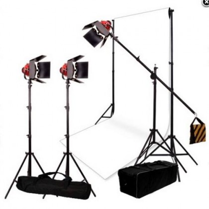 Bresser SG-800D Photo/Video Halogen with dimmer + 3x6m white background