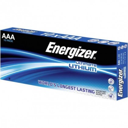 10 x Energizer L92 Ultimate Lithium AAA R03