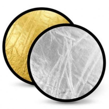 Portable Studio Photo Light Reflector 60cm 2 in 1  Silver / Gold