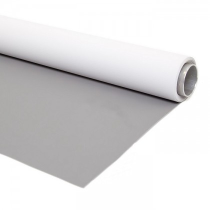 2.72m x 6m Double Sided Vinyl White High Key and Midtone Grey Professional  background