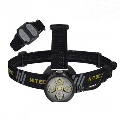 Nitecore HU60 - 1600 lumens, electronic focus incl. Remote control