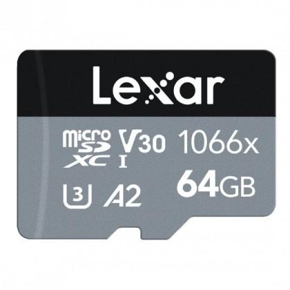 Карта памяти Lexar Pro 1066x microSDHC/microSDXC UHS-I (SILVER) R160/W70 64GB