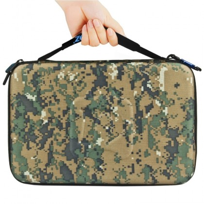 PULUZ Camouflage Pattern Waterproof Carrying and Travel Case for GoPro and other Sport Cameras Accessories