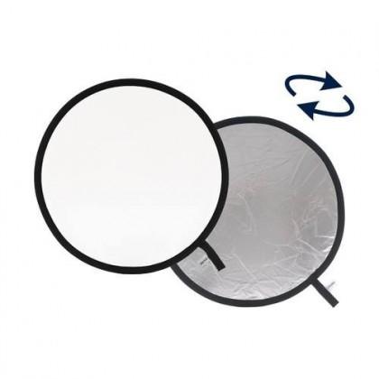 Складной cветоотражатель Reflector 60cm 2 in 1  Silver / White