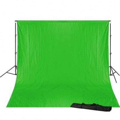 Bresser BR-D23 Support + 3x6m Green Screen studijas komplekts