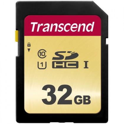 32GB Transcend 500S UHS-I U1 SDHC MLC (V30) R95/W60 Memory Card