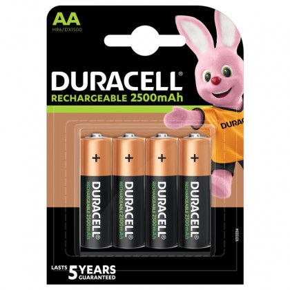 4x Duracell Rechargeable R6/AA 2500 mAh (blister)