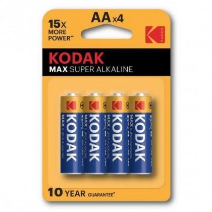 4 x KODAK Max Alkaline LR6/AA (blister)