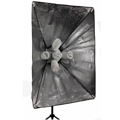 Foto studijas gaismas softboks 60x90 cm with E27 x 5 caps
