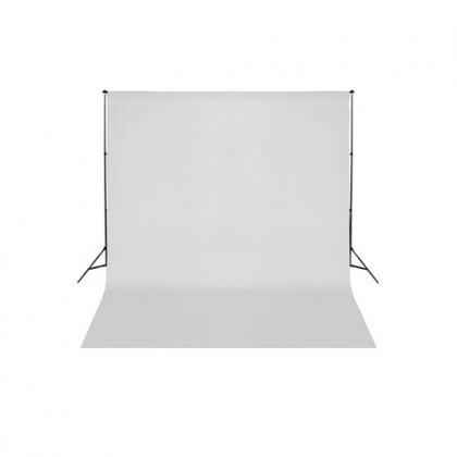 Studijas komplekts ar baltu fonu Bresser BR-D23 Support 2.4x3m + 3x4m Canvas White
