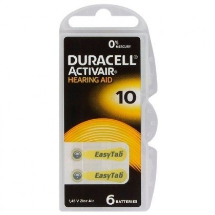 Duracell ActivAir 10 MF 6 x batteries for hearing aids