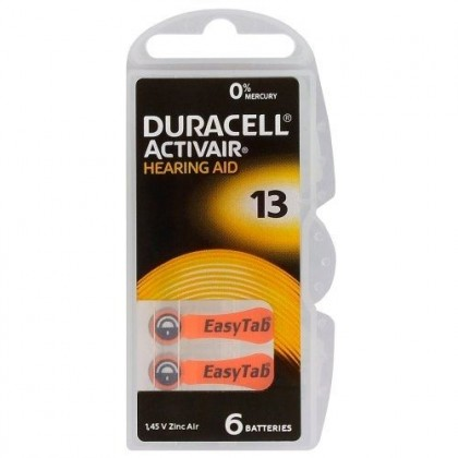 Duracell ActivAir 13 MF 6 x batteries for hearing aids