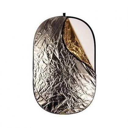Portativais saliekams atstarotājs Oval reflector 92x122cm 5in1