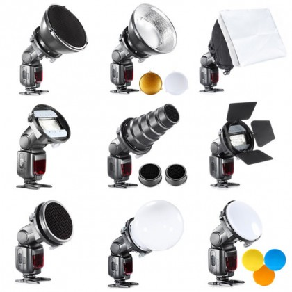 Bresser BR-SET-9-piece Speedlite Strobist kit