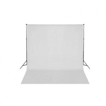 Studijas komplekts ar baltu fonu Bresser BR-T26 Support 2.6m x 3m + 3x6m White