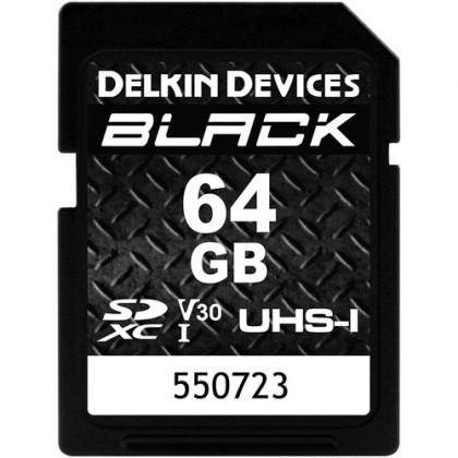 DELKIN SD BLACK Rugged UHS-II (V30) R90/W90 64GB