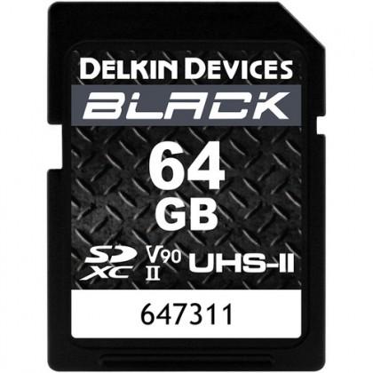 DELKIN SD BLACK Rugged UHS-II (V90) R300/W250 64GB