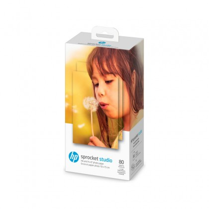 "HP photo paper + ink cartridge Sprocket Studio 4x6"" 80 sheets"