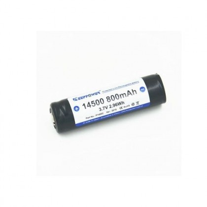 KeepPower 14500 800mAh (ar aizsardzibu PCB) - 4A Li-ion Akumulators