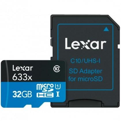 16gb LEXAR 633X MICRO SDHC / SDXC UHS-I WITH ADAPTER