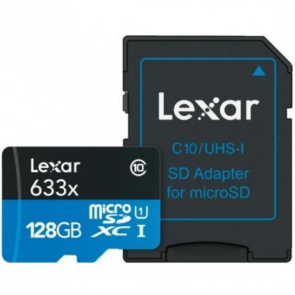 256gb LEXAR 633X MICRO SDXC UHS-I U3 V30 WITH ADAPTER