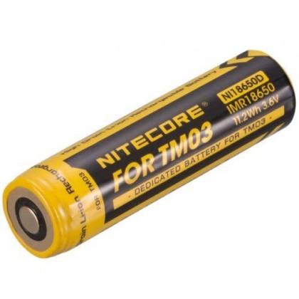 Akumulatoru baterija Nitecore Li-Ion NI18650D lukturim nitecore TM03