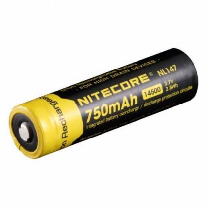 Nitecore 14500 - NL147 Li-ion akumulators ar PCB aizsardzibu