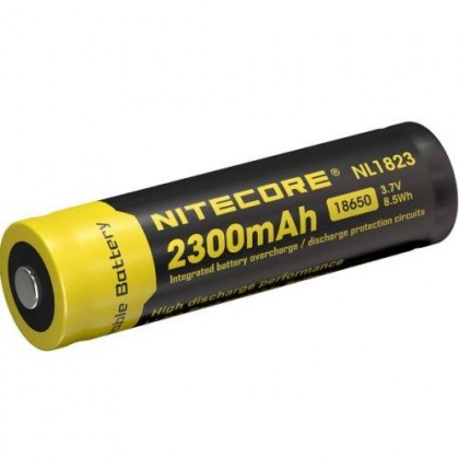 Nitecore Li-Ion Akumulatoru baterija 18650 - 2300mAh - NL1823 ar PCB aizsardzibu