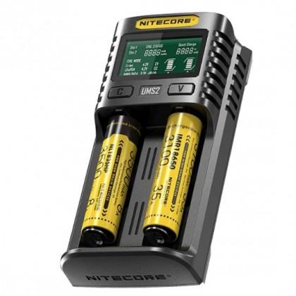 Universalais Lādētājs Nitecore UMS2 3A Li-Ion / Ni-Mh baterijam