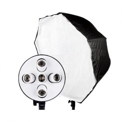 Foto studijas gaismas OCTABOX 90cm 5x E27