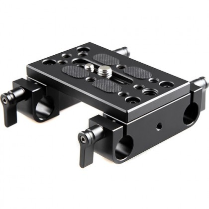 SMALLRIG 1775 Mounting Plate w/ 15mm Rod Clamps