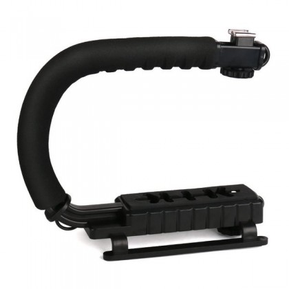 Foto un video kameru stabilizators ar zibspuldzes pievienošanu