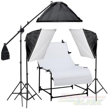 Photo Studio Light Kit  3900W + Shooting Table 100 x 200cm