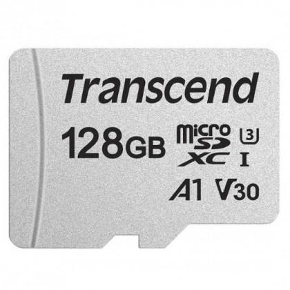 ATMIŅAS KARTE 128gb TRANSCEND MICROSDXC/SDHC 300S SILVER CARDS (V30) W/O ADAPTER